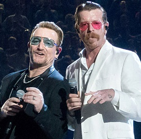 eagles of death metal & u2 on stage